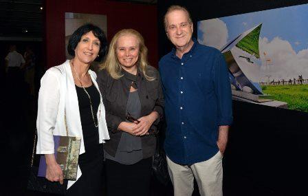 Denise Mattar , Paula Pape e Leonel Kaz