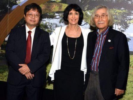 Ken Kondo, Denise Mattar e Yutaka Toyota