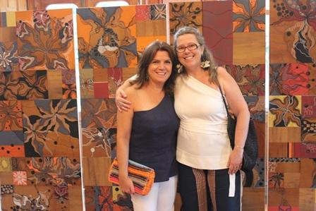 Míriam Chactoura e a artista plástica Desirée Bruver