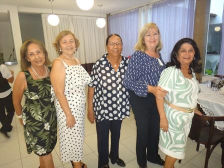 Volney Flores, Sonia Amorim, Aurea Bastos Moura, Martine Velloso e Cinira Soares