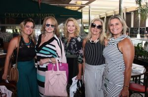 Nilza Supriano, Regina Portugal, Catia Garrido, Salete Jardim e Karla Edde