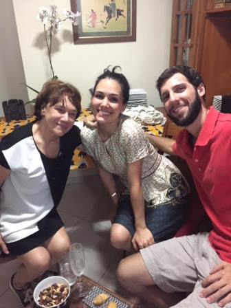 Alda Mendonca com os noivos Ingrid Boiteux e Marcelo Niero