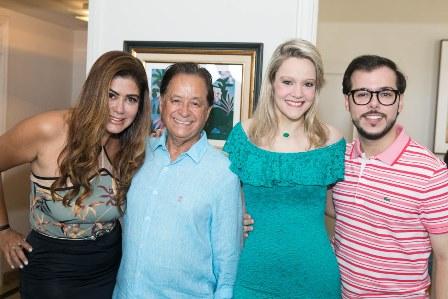 Ana Lucia e Natalino Santana, Roberta Monteiro da Fonseca e Felipe Braga