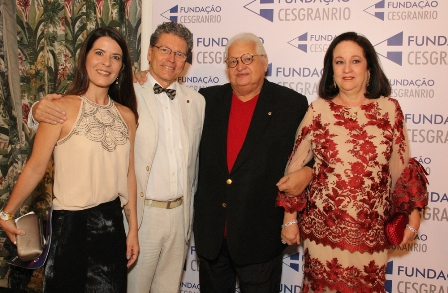 Barbara Lima, Fernando Bicudo  e Carlos e Beth Serpa