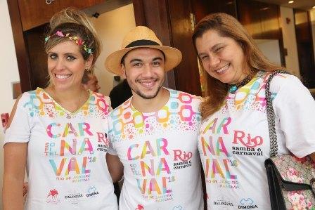 Bruna Barros, Vinicius Belo e Ana Cristina Carvalho