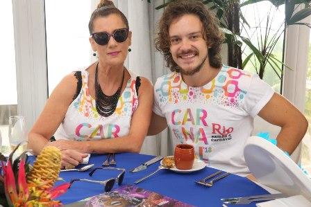 Claudia Wildberg e Yuri Ribeiro