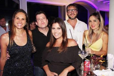 Daniela, Rodrigo Cesar Lopes, Carolina Muniz, Daniel Michillini e DJ Nicole Baldwin