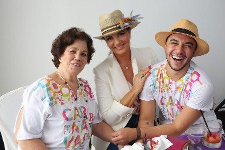Dona Alzira (mae de Luiza), Luiza Brunet e Vinicius Belo