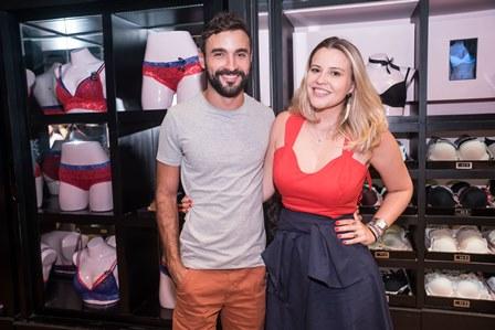 Felipe Santos e Alina Moniz