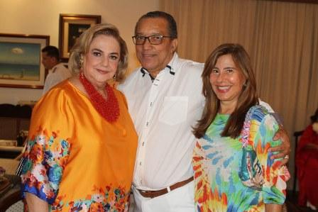 Cristina Aboin, Amaro Leandro e Alice Tamborindeguy