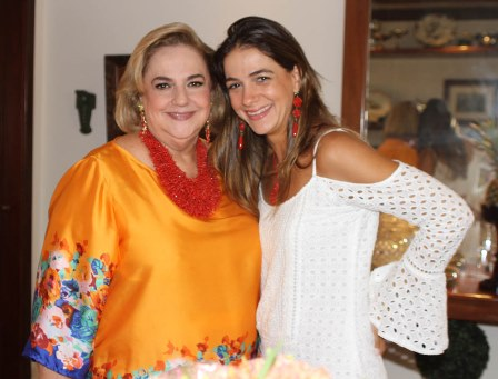 Cristina Aboin e sua filha Laura