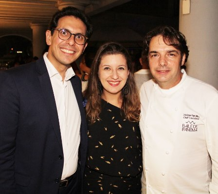 Netto Moreira, Camila Salgueiro e Chef Jerome Dardillac
