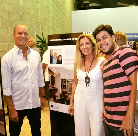 Os expositores Pedro Lima, Andréa Spelzon e Rodrigo Abbês