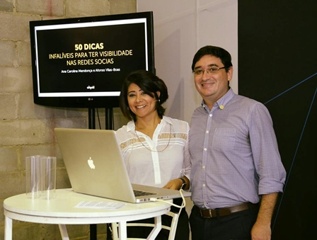 Os palestrantes da noite Ana Carolina Mendonça e Afons Vilas-Boas