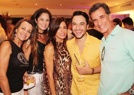 Tuta Hermes, Andrea Paes, Fernanda Lopez, Vinicius Belo e Luiz Otavio Leitao