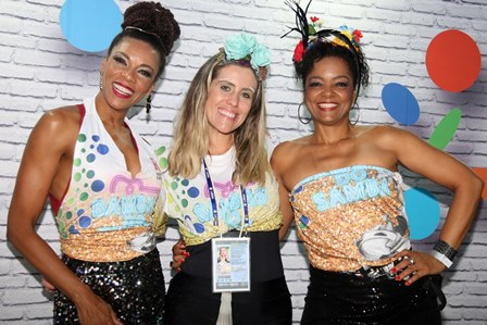 Lica Oliveira, Bruna Barros e Maria Ceiça