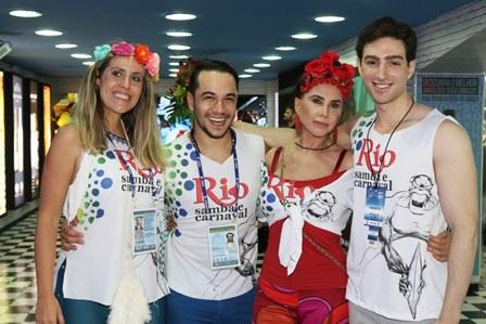 Bruna Barros,Vinicius Belo,Claudia Alencar e Yan