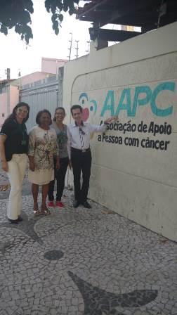Alexsandra Almeida, Maria Emília Azevedo, Djanira Araujo Torres e Ailton Pitombo