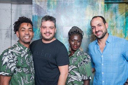 Felipe Reis e Renato Thomaz  Celina Lope e Marcelo Marinho