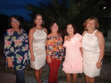 Alfreda Xavier, Ritinha Kruschewsky, Célia Cerqueira, Maria Aparecida Carneiro Almeida e Sonia Amorim