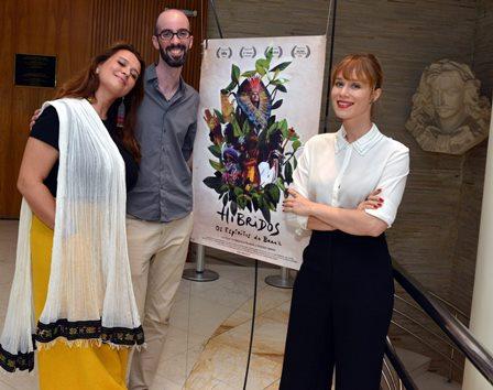 Priscilla Telmon  , Ibirá Machado  e  Mariana Ximenes