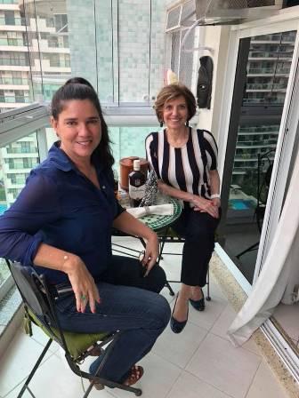 Fatima Do Coutto e a escritora Joana Teixeira