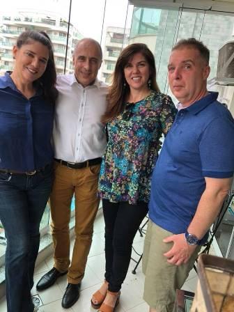 Joana Teixeira,Jean Paul Carlier, Jana Figueiredo e Bayard Boiteux
