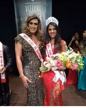 A Miss Feira Gay Pietra Morato e a Miss Feira 2018 Liliana Natiele Santos Silva