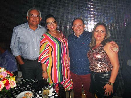 Adelmario e Alfreda Xavier com Ivanberg e Sony Lima