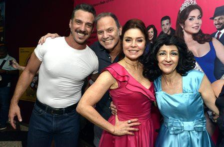 Carlos Bonow , Aloísio de Abreu ,  Françoise Forton e Andréa Dantas