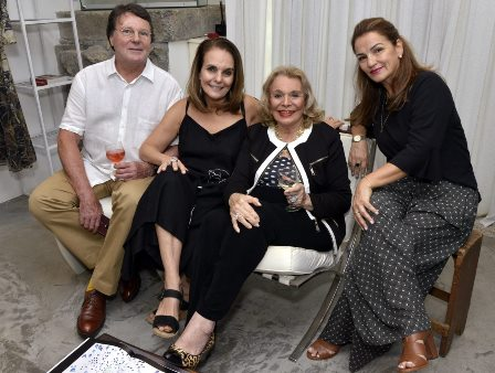 Marcio Roiter ,  Patricia Secco ,l Lourdes Catão e Maria Salete