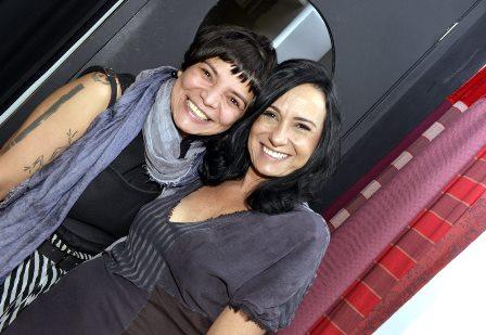 Antônia Oliveira e Giselle Litch