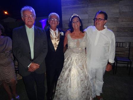 Gildarte e Alvacele Ramos entre Luciano Ribeiro e