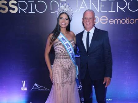 """Miss Rio de Janeiro 2018 """" Amanda Coelho """" e o coach Sérgio Oliveira"""
