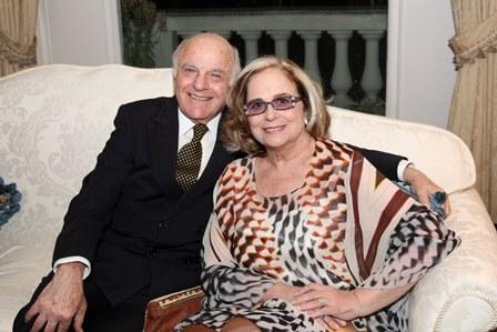 Francis Bogossian e Hildegard Angel