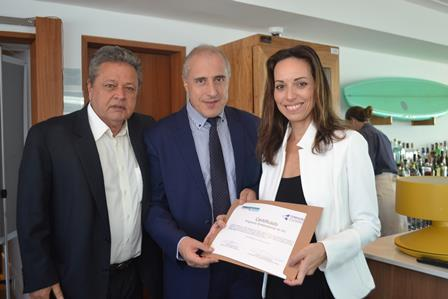 Aloysio Teixeira,Consul da Belgica Jean Paul Charlier e Claudia Mota