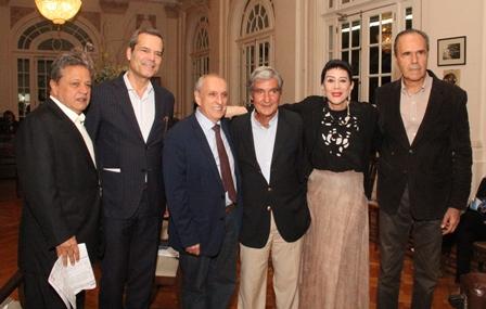 Aloysio Teixeiram Jaime Leitáo, Gilberto Cortes,Tacy Suarez e Euclides Aranha