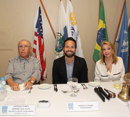 Antenor Leal Filho, Marcelo Calero e a presid do Rotary OLindina Regis