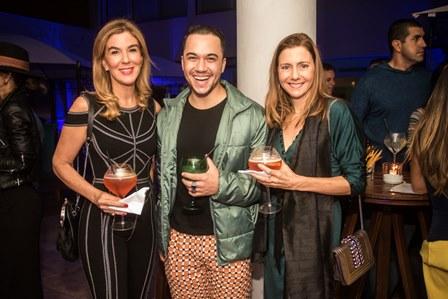 Bete Floris, Fernanda Marcolini e o promoter Vinicius Belo