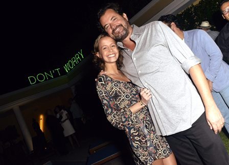 Manoela e seu pai Miguel Pinto Guimarães
