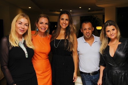 Tania Batista, Nina Kauffmann, Claudia Dutra, Sílvio de Borgges e Helena Caio