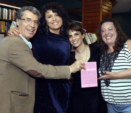 Paulo Betti, Dadá Coelho, Maria Ribeiro e Juliana Betti