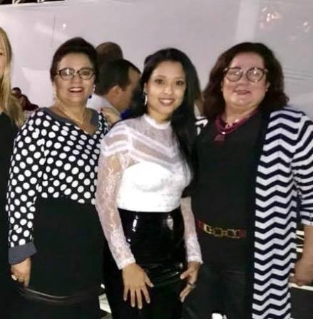 Alfreda Xavier, Naiana Santana e Julina Seixas