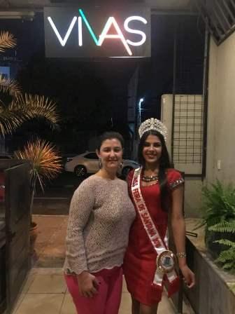 Ana Libia Sampaio e a Miss Feira 2018 Liliane Natiele