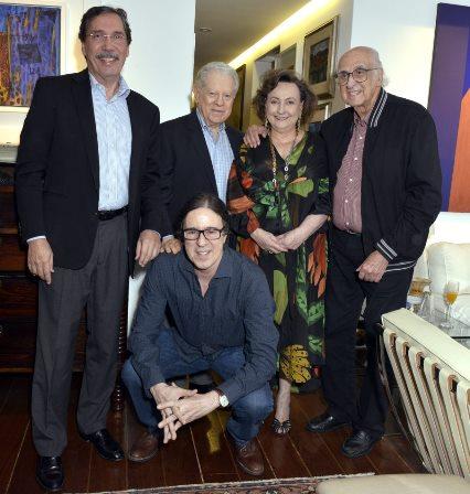 Merval Pereira , Arnaldo Niskier , Margareth Dalcolmo , Zuenir Ventura e Geraldinho Carneiro