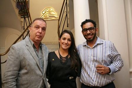 Bayard Boiteux, Daniele Vieira e Gustavo Delesderrier