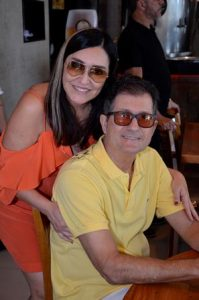 O casal Cacau e Paulo Dias