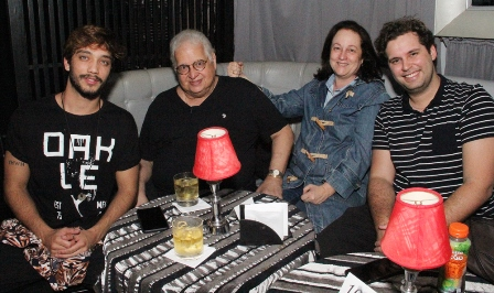 Pedro Saeys, Carlos e Beth Serpa e Marcus Brandão