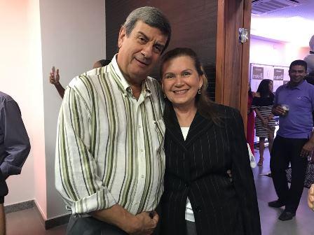 Prefeito Colbert e sua mulher Adenilda Martins