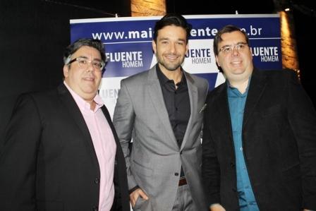 S+®rgio Marone entre os diretores da revista Liberado Jr  e S+®rgio Liberado